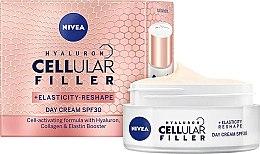 Parfums et Produits cosmétiques Crème de jour au collagène SPF30 - Nivea Hyaluron Cellular Filler +Elasticity-Reshape Day Cream SPF30