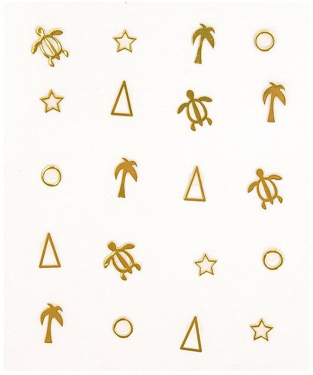 Autocollants décoratifs pour ongles, 1 pcs - Peggy Sage Decorative Metallic Nail Stickers