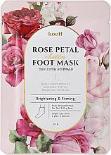Parfums et Produits cosmétiques Masque aux pétales de rose pour pieds - Petitfee&Koelf Rose Petal Satin Foot Mask