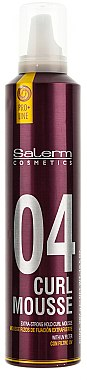 Mousse volumisante, fixation extra forte - Salerm Curl Mousse — Photo N1