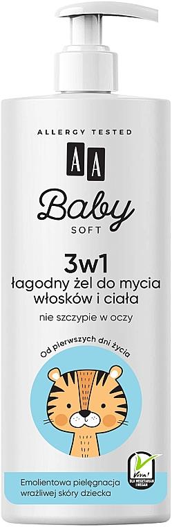 Gel lavant au panthénol pour corps et cheveux - AA Baby Soft
