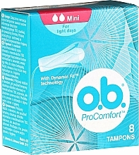 Parfums et Produits cosmétiques Tampons, 8 pcs - O.b. ProComfort Mini Dynamic Fit Tampons