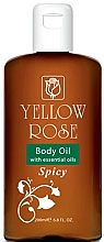 Parfums et Produits cosmétiques Huile pour corps - Yellow Rose Body Oil With Essential Oils Spicy