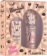 Parfums et Produits cosmétiques 7 Days Illuminate Me Miss Crazy №2 - Set (lait pour corps/150ml + fluide pour visage/50ml)