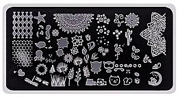 Parfums et Produits cosmétiques Plaque de stamping pour nail art, 1 pcs - Elisium Stamping Plates