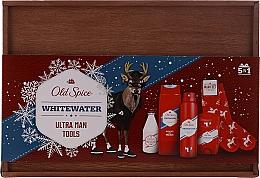 Parfums et Produits cosmétiques Old Spice Whitewater Wooden - Coffret cadeau (déodorant/50g + gel douche/250ml + lotion après-rasage/100ml + spray/150ml)