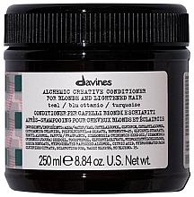 Parfums et Produits cosmétiques Après-shampooing à l'huile de graines de jojoba (turquoise) - Davines Alchemic Conditioner Teal