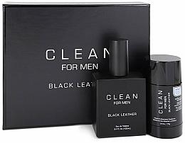 Parfums et Produits cosmétiques Coffret cadeau - Clean Black Leather Men (edt/100ml + deo/75ml)