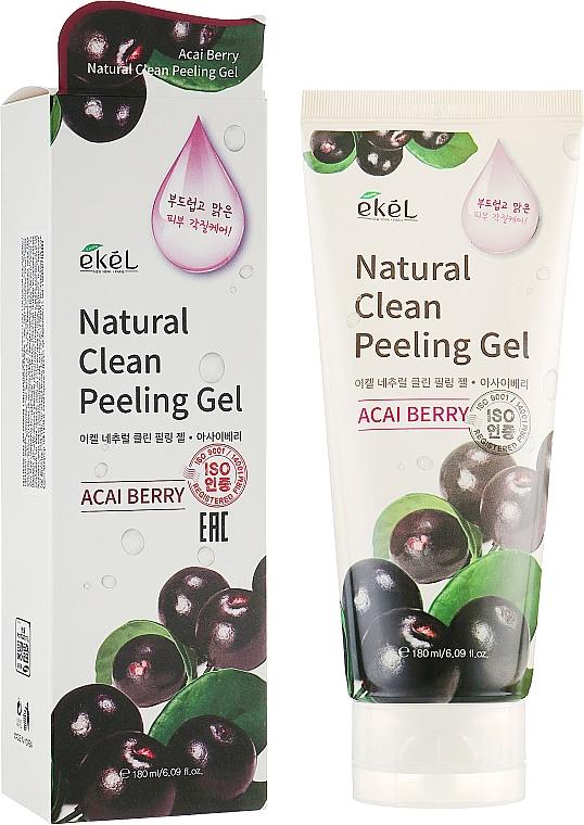 Gel exfoliant aux baies d'açaï pour visage - Ekel Acai Berry Natural Clean Peeling Gel — Photo N1
