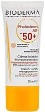 Parfums et Produits cosmétiques Crème solaire teintée pour peaux sensibles réactives SPF 50+ - Bioderma Photoderm AR Spf 50+ Tinted Sun Cream