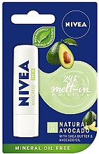 Parfums et Produits cosmétiques Baume à lèvres à l'huile d'avocat - Nivea 24H Melt-in Natural Avocado Lip Balm SPF15