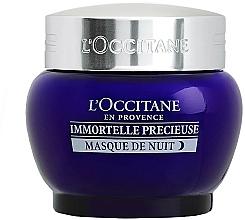 Parfums et Produits cosmétiques Masque de nuit à l'huile d'immortelle pour visage - L'Occitane Immortelle Precieuse Overnight Mask