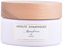 Parfums et Produits cosmétiques Adolfo Dominguez Agua Fresca De Rosas - Crème parfumée à la bergamote, mandarine et rose pour corps