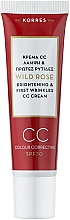 Parfums et Produits cosmétiques Korres Wild Rose Brightening & First Wrinkles Color Correcting Cream - CC-crème à la rose sauvage pour visage SPF 30