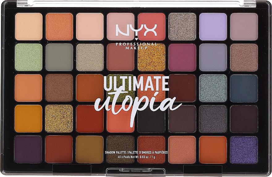 Palette professionnelle de fards à paupières - NYX Ultimate Utopia Shadow Palette Summer 2020
