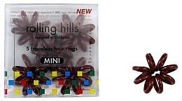 Parfums et Produits cosmétiques Élastiques à cheveux, mini, marron - Rolling Hills 5 Traceless Hair Rings Mini Brown