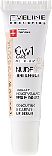 Parfums et Produits cosmétiques Sérum à lèvres intensif teinté, 6 en 1 - Eveline Cosmetics Lip Therapy Proffesional Tint