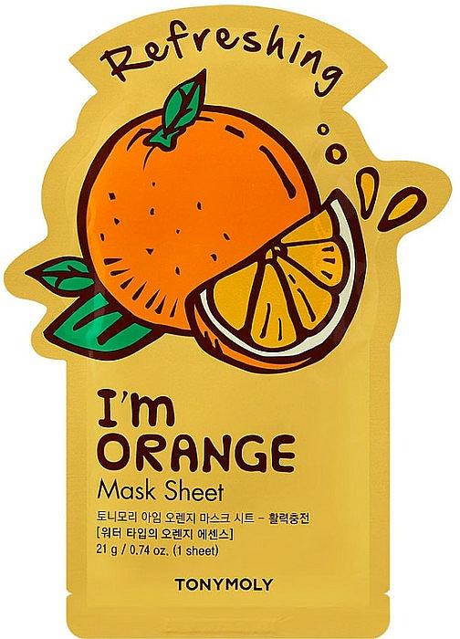 Masque tissu à l'extrait d'orange pour visage - Tony Moly I Am Orange Mask Sheet — Photo N1