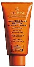 Parfums et Produits cosmétiques Crème bronzante protectrice SPF 15 résistante à l'eau pour visage et corps - Collistar Crema Abbronzante Protettiva Media SPF15