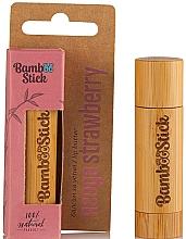 Parfums et Produits cosmétiques Beurre à lèvres, Fraise - Bamboostick Strawberry Bamboo Natural Care Lip Butter