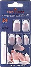 Parfums et Produits cosmétiques Kit de faux ongles avec colle French, 74165 - Top Choice