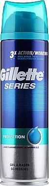 Gel de rasage à l'huile d'amande douce - Gillette Series Protection Shave Gel for Men