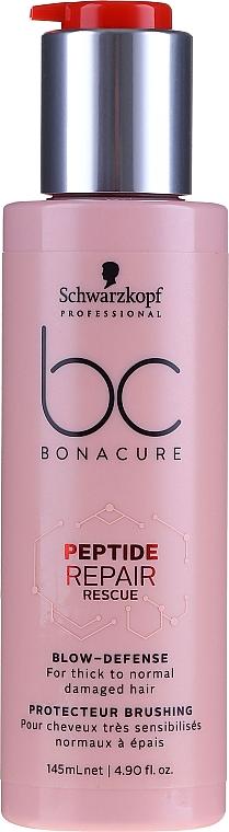 Crème protectrice pour cheveux - Schwarzkopf Heat Protector BC Peptide RR Blow Defense
