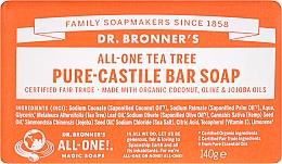 Parfums et Produits cosmétiques Savon à l'huile d'arbre à thé - Dr. Bronner's Pure Castile Bar Soap Tea Tree
