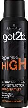 Parfums et Produits cosmétiques Argile coiffante en spray à effet mat - Schwarzkopf Got2b Roaring High Sprayable Clay Constructor
