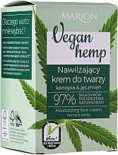 Parfums et Produits cosmétiques Crème à l'huile de chanvre pour visage - Marion Vegan Hemp Moisturizing Face Cream Hemp & Barley