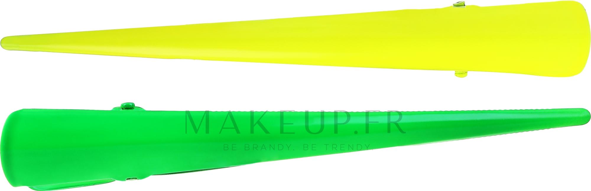 Barrettes à cheveux, 25143, jaune et vert - Top Choice — Photo 2 pcs.