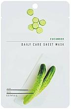 Parfums et Produits cosmétiques Masque tissu à l'extrait de concombre pour visage - Eunyul Daily Care Mask Sheet Cucumber