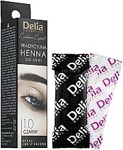 Parfums et Produits cosmétiques Teinture en poudre pour sourcils, noir - Delia Brow Dye Henna Traditional Black