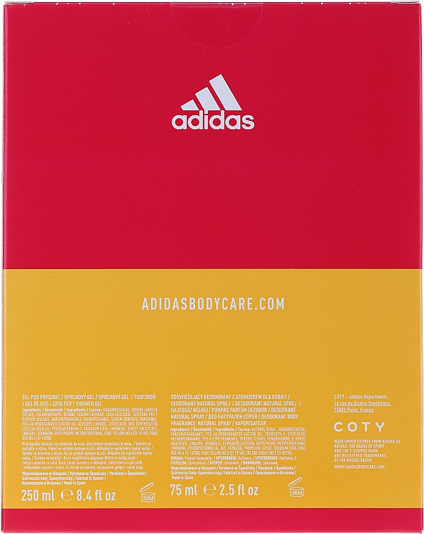 Adidas Get Ready! For Her - Set (déodorant/75ml+gel douche/250ml) — Photo N4