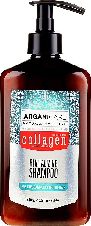 Shampooing au collagène - Arganicare Collagen Revitalizing Shampoo