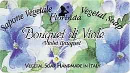 Parfums et Produits cosmétiques Savon naturel artisanal, Bouquet de violettes - Florinda Sapone Vegetale Vegetal Soap Violet Bouquet