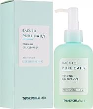 Parfums et Produits cosmétiques Gel-mousse nettoyant pour peaux sensibles - Thank You Farmer Back To Pure Foaming Gel Cleanser