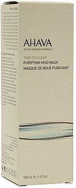 Masque purifiant à l'huile de jojoba pour visage - Ahava Time To Clear Purifying Mud Mask — Photo N2