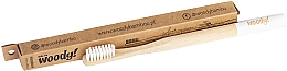 Parfums et Produits cosmétiques Brosse à dents en bambou medium, blanc - WoodyBamboo Bamboo Toothbrush