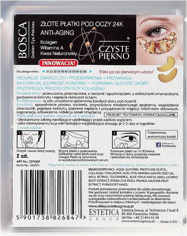 Patchs à l'Or pour contour des yeux - Czyste Piekno 24K Anti-Aging — Photo N2
