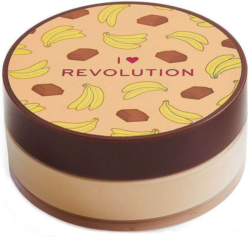 Poudre libre baking pour visage, Chocolat-Banane - I Heart Revolution Loose Baking Powder Chocolate Banana