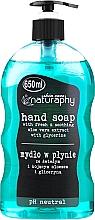 Parfums et Produits cosmétiques Savon liquide à l'extrait d'aloe vera pour mains - Bluxcosmetics Naturaphy Hand Soap