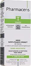 Parfums et Produits cosmétiques Crème à l'extrait de sauge pour visage - Pharmaceris T Sebo-Moistatic Cream SPF30