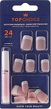 Parfums et Produits cosmétiques Kit de faux ongles avec colle French, 74097 - Top Choice