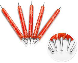 Parfums et Produits cosmétiques Set de dotting tools pour nail art, orange - Silcare
