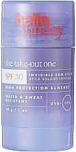 Parfums et Produits cosmétiques Stick solaire pour visage et corps - Hello Sunday The Take-Out One Invisible Sun Stick SPF 30