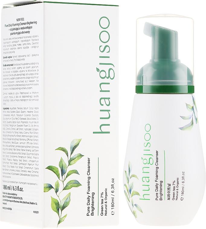 Mousse nettoyante au collagène pour visage - Huangjisoo Pure Daily Foaming Cleanser Brightening