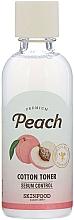 Parfums et Produits cosmétiques Lotion tonique à l'extrait de pêche pour visage - Skinfood Premium Peach Cotton Toner
