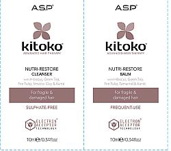 Parfums et Produits cosmétiques Affinage Kitoko Nutri-Restore Cleanser & Balm Sachet Duo - Set (shampooing/10ml + baume/10ml)
