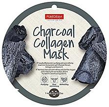 Parfums et Produits cosmétiques Masque tissu au collagène et charbon pour visage - Purederm Charcoal Collagen Mask